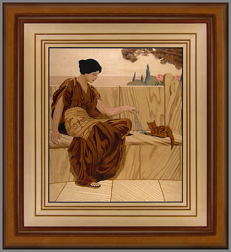 A winning piece in the 2008 Marquetry Society's contest