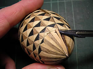 Working on a Parquetry Egg