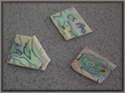 Three pieces of Mother of Pearl blank