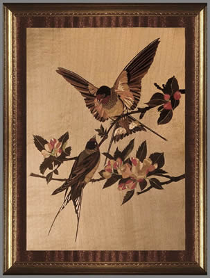 Swallows and Apple Blossom